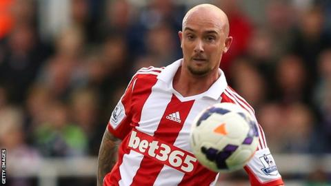 Stephen Ireland in action for Stoke against Manchester City on Saturday