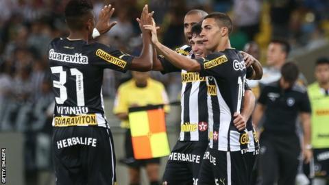 Botafogo players celebrate