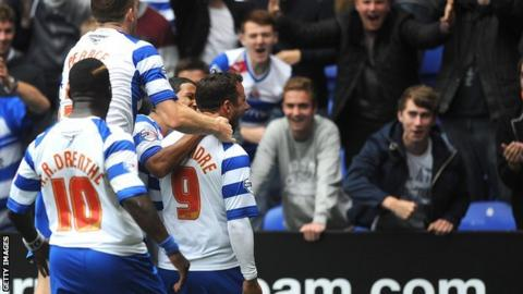 Reading players celebrate