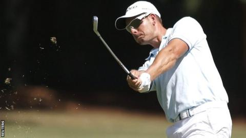 Henrik Stenson in second-round action at East Lake Golf Club