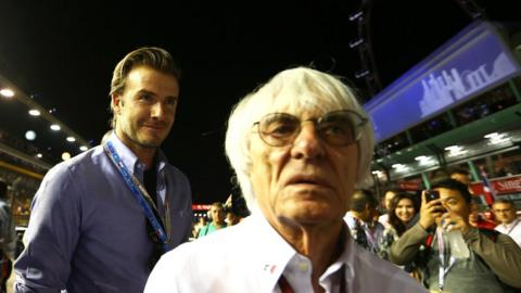 David Beckham (left)