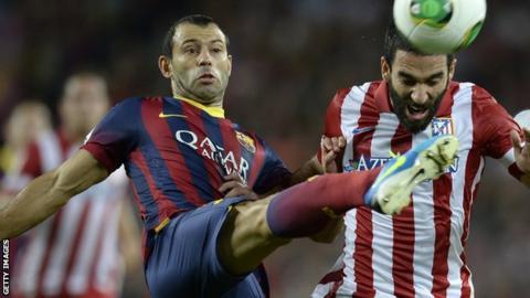 Barcelona's Javier Mascherano