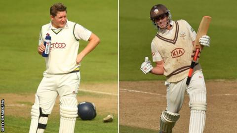 Gary Ballance (left) Dominic Sibley (right)