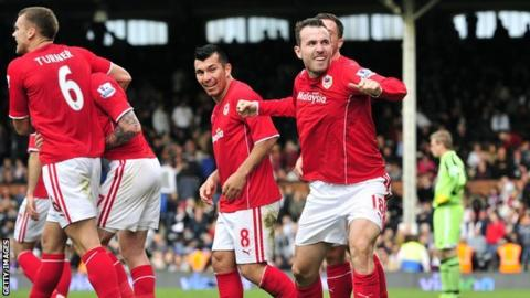 Cardiff's Jordon Mutch celebrates