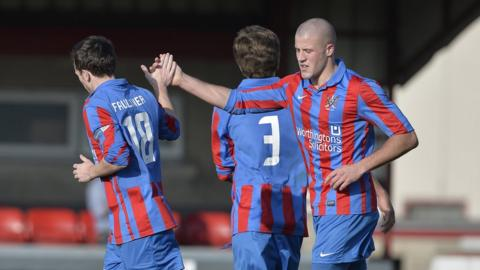 William Faulkner and Mark McClelland were both on the scoresheet for Ards against Ballinamallard