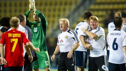 Scotland were 2-1 winners in Macedonia last month