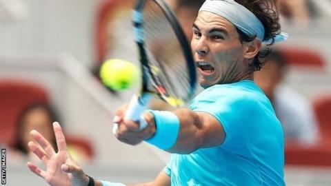 Spain's Rafael Nadal at the China Open