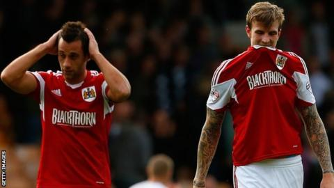 Aden Flint (r) and Sam Baldock after their 1-1 draw with Port Vale