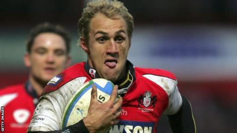 Olly Morgan playing for Gloucester