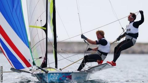British sailors Stevie Morrison and Ben Rhodes