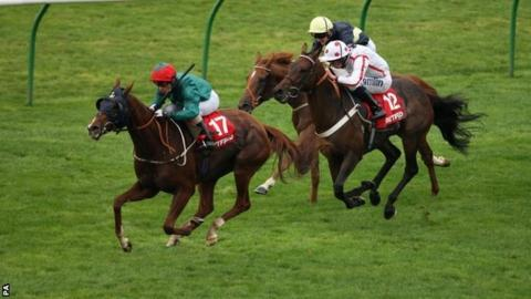 Scatter Dice wins the Cesarewitch at Newmarket