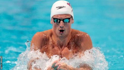 Michael Jamieson won silver in the Men's 200m breaststroke in Moscow