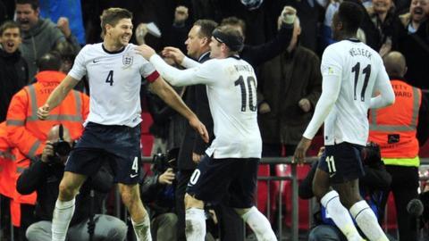 Steven Gerrard, Wayne Rooney, Danny Welbeck