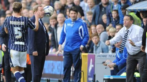 The ball is thrown in QPR manager Harry Redknapp's face