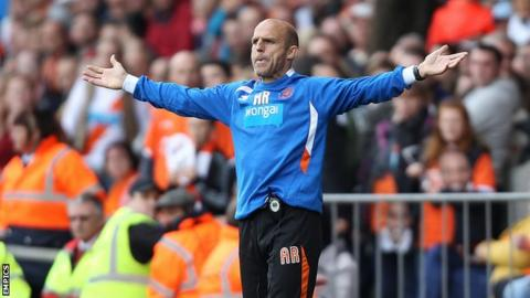 Blackpool assistant manager Alex Rae