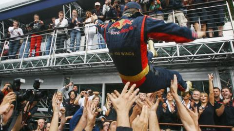 Sebastian Vettel at the 2008 Italian Grand Prix