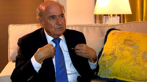 Fifa President Sepp Blatter speaks at the Concacaf Sport Summit