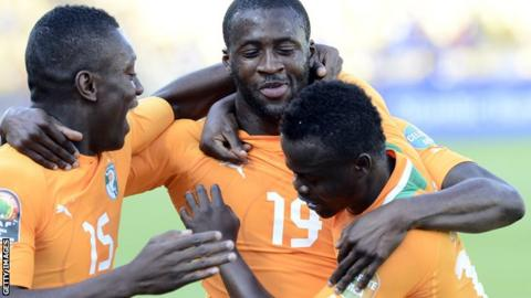 Yaya Toure of Ivory Coast