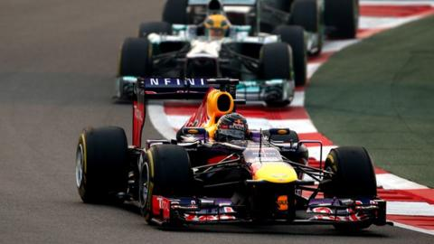 Sebastian Vettel dominates the Indian Grand Prix to win a fourth consecutive world championship