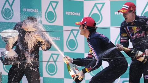 Sebastian Vettel at the 2009 Chinese Grand Prix