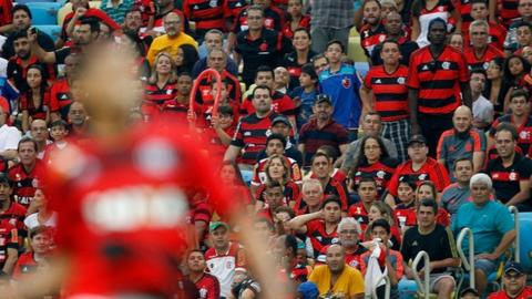 Fans of Flamengo during the match between Flamengo and Criciuma