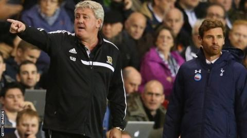 Steve Bruce on the sidelines against Tottenham