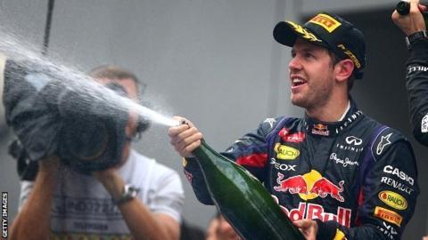 Sebastian Vettel at the Indian Grand Prix