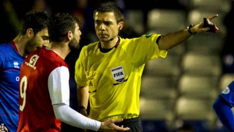 Ciftci was sent off during Dundee United's League Cup defeat by Inverness