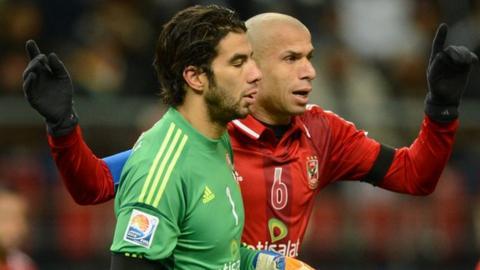 Sherif Ekramy (left)