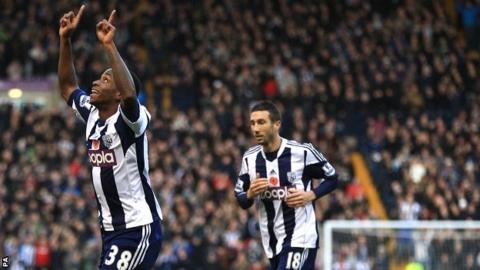 Saido Berahino scores for West Brom