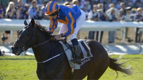 Ryan Moore steers Aidan O'Brien's Magician to victory in the Breeders Cup Turf at Santa Anita