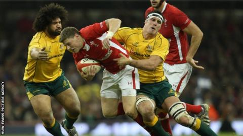 Wales fly-half Rhys Priestland in action against Australia in 2012