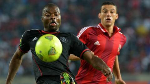 Orlando Pirates in action against Al Ahly