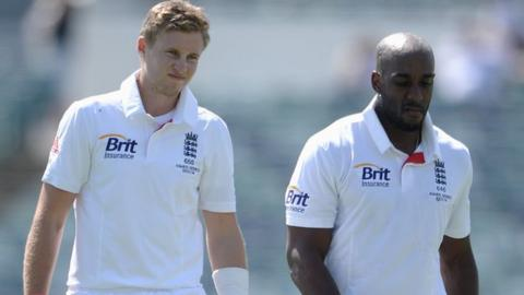 Joe Root and Michael Carberry