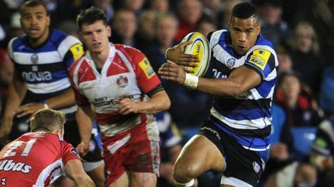 Anthony Watson playing for Bath