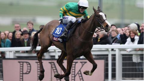 Synchronised, ridden by AP McCoy, wins the Cheltenham Gold Cup in 2012