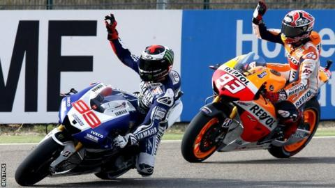 Jorje Lorenzo and Marc Marquez