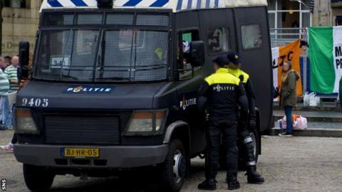 A police van in Amsterdam