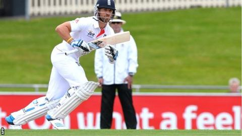Matt Prior batting against Australia A