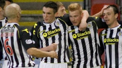 St Mirren celebrate at Firhill