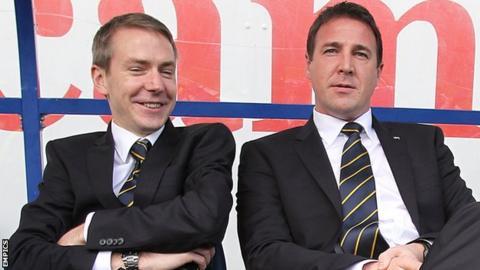 Malky Mackay (right) with Iain Moody