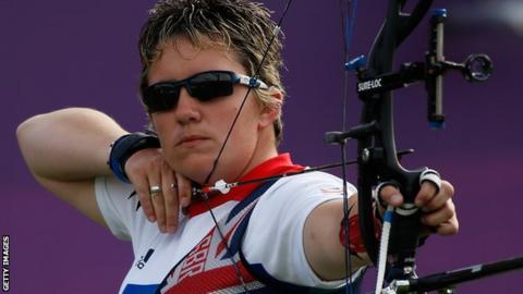 GB Paralympic archer Mel Clarke