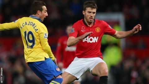 Manchester United midfielder Michael Carrick