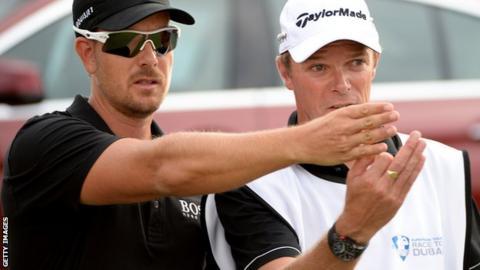 Henrik Stenson and caddie