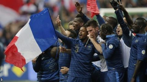 France celebrate reaching the World Cup