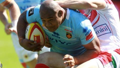 Sona Taumalolo in action for Perpignan