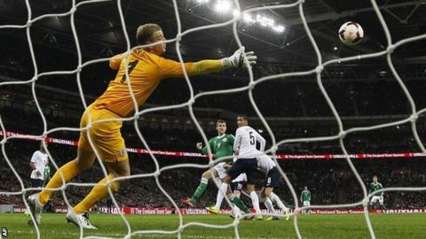 Per Mertesacker puts Germany in front against England