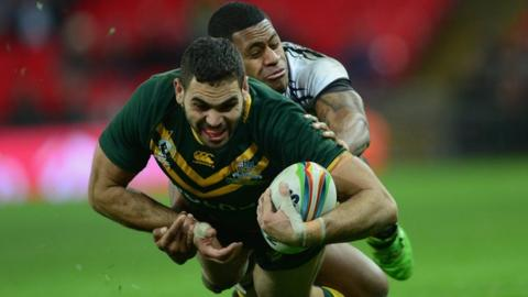 Australia take on Fiji at Wembley