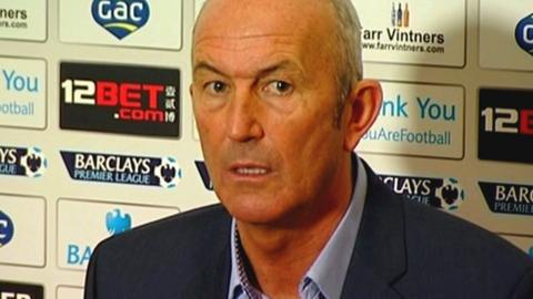 Tony Pulis speaks to the media for the first time as Crystal Palace manager