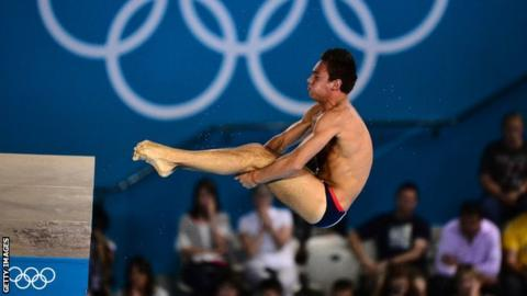Tom Daley won bronze in the 10m platform at London 2012